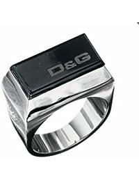 Dolce&Gabbana Dolce & Gabbana - DJ0434 - Anillo unisex de acero inoxidable (talla: 23)