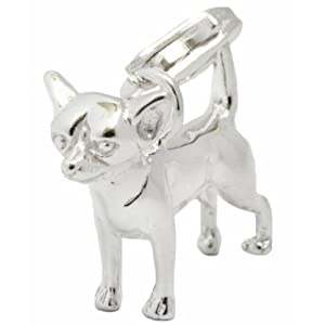 My Home Crystal 925/35 AG Silber Charm Anhänger Chihuahua