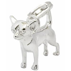 925/35 AG Silber Charm Anhänger Chihuahua