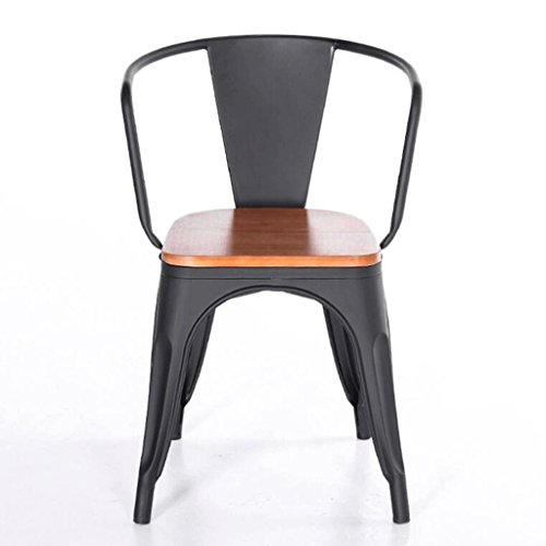 Barhocker YYF Massivholz Eisen American Retro Hochstuhl Kaffee Stuhl Outdoor Freizeit Stühle -