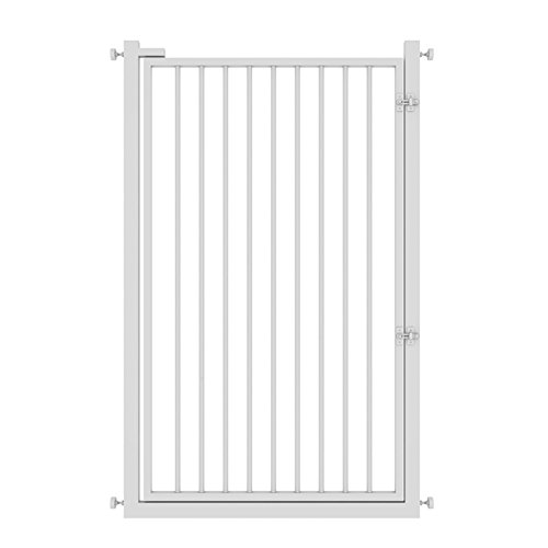 Barrière de sécurité Supergate Extra Large Porte Easy Close, Blanc, Convient Aux Espaces Entre 65cm À 140cm De Large Et 120cm De Haut (taille : 131-135 cm)