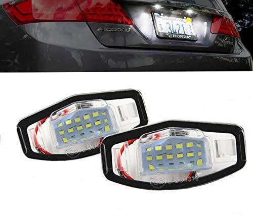 MuChangZi 2 stücke canbus fehlerfrei weiß 18smd led kennzeichenbeleuchtung für Honda Accord Civic City Odyssey mr-v/Pilot (Licht Honda Accord)