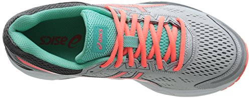 Asics GEL-Fortitude 7 Synthétique Chaussure de Course Silver-Fiery Coral-Aqua Mint