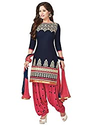 Lady Loop Women's Faux Crepe Salwar Suit Dress Material