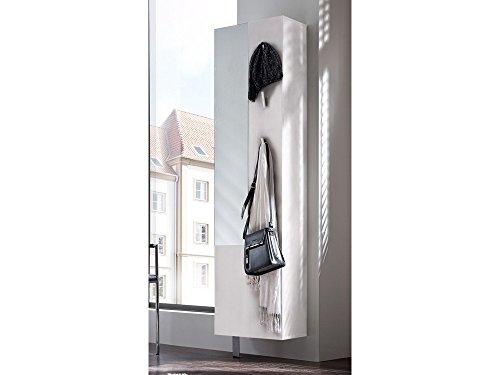 Spiegelschuhschrank Drehschrank für 11 Paar Schuhe in Weiß matt