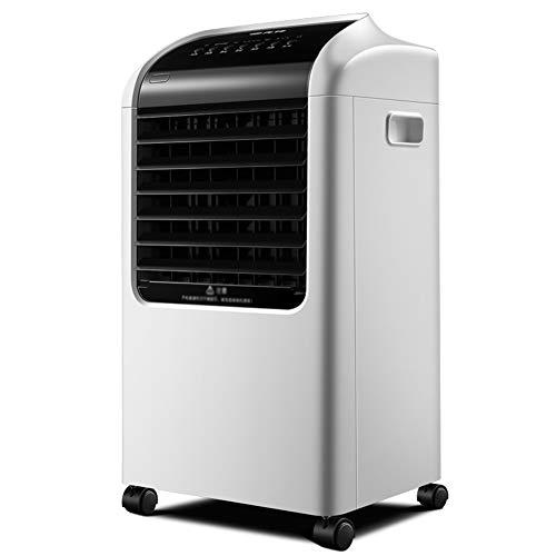 HAIPENG Mobile Tragbare Klimaanlage Klimagerät Luftkühler 3 In 1 Lüfter Kühlung Luftbefeuchter Luftreiniger Fernbedienung 15 Stunden Timer, 65W (Farbe : Weiß, größe : 381x336x695mm)