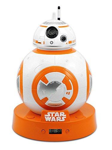 Reloj Despertador con efecto de proyección y sonido original Star Wars - BB-8