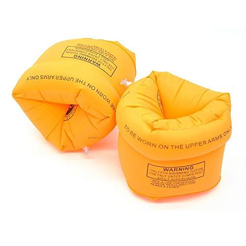 Ogquaton Kinder Aufblasbare Arm Float Ring Roll-Ups Schwimmen Arm Bands Schwimmen Zubehör Perfektes Werkzeug zum Lernen Schwimmen Orange