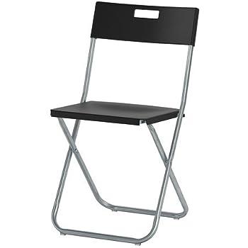 Ikea Chaise Pliante GUNDE Noir