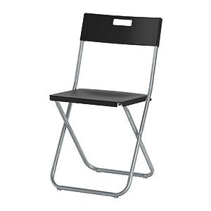 IKEA GUNDE Silla plegable negro