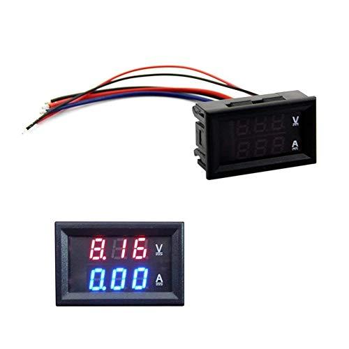 Dual-digital-messgeräte (Ouken DC 100V 10A Voltmeter Amperemeter Blue + Roter LED Amp Dual Digital-Volt-Meter-Messgerät DIY Tool)