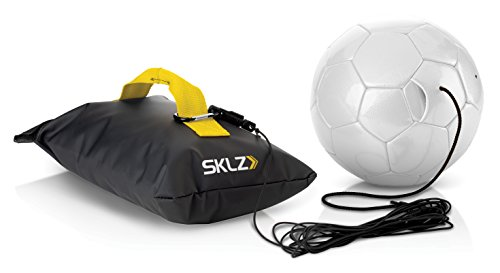 SKLZ Kick Back Football Strike and Pass Trainer - Yellow  Size 4