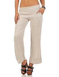 Malito Pantalones de Lino Estilo Clásico Pantalones de Verano 8076 Mujer f80e6f0c9b5