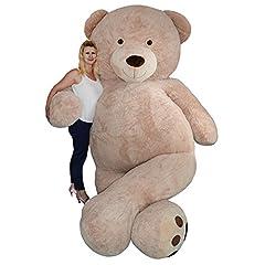 Idea Regalo - TE Trend - Orso di peluche XXL gigante, sdraiato o seduto, 320cm, colore marrone chiaro, decorazione per fiere, eventi, promozioni, matrimoni