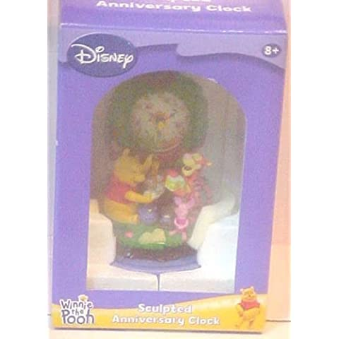 DISNEY SCULPTED ANNIVERSARY WINNIE THE POOH CLOCK by M.Z. BERGER