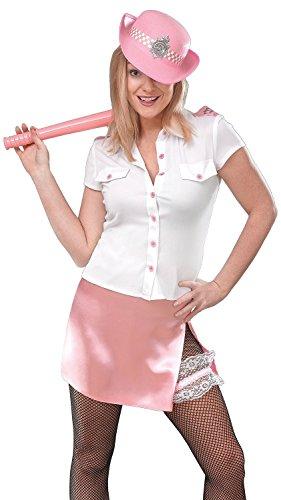 Damen Sexy Pink WPC Polizistin Polizei Cops & Räuber Hen Do Party Night Fancy Kleid Kostüm Outfit, Pink