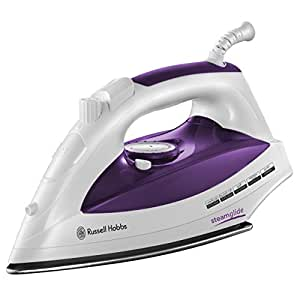 Russell Hobbs 18651 Steamglide Iron, 2400 W - White and Purple
