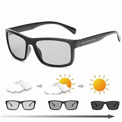 CCGKWW Quadrat Polarisierte Photochrome Sonnenbrille Männer Frauen Fahren Chamäleon Brille Männlich Tag Nacht Fahrerbrille Lentes Sol Hombre
