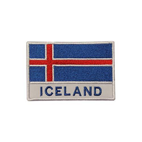 Parche bordado de la bandera nacional de Islandia