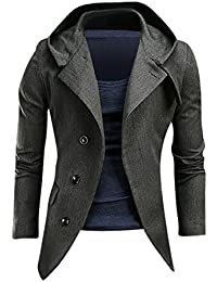Jeansian Chaquetas Para Hombre Moda Mens Fashion Causal Blazer Jacket 9096