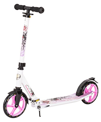 STAR-SCOOTER Alu City Tretroller, Weiß/Lila, SC-205-FA-PM-WELC