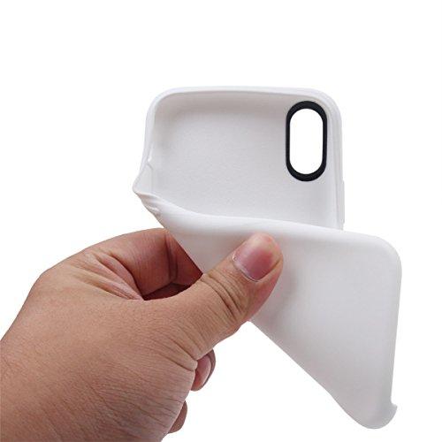 iPhone X Handycover, MOONMINI für iPhone X Ultra dünn Premium Bruchsicher Anti-Kratzer Schutzschale Soft TPU Silikon Stoßfest Handy Tasche Anti-Drop Full Body Schutzhülle Himmelblau Weiß