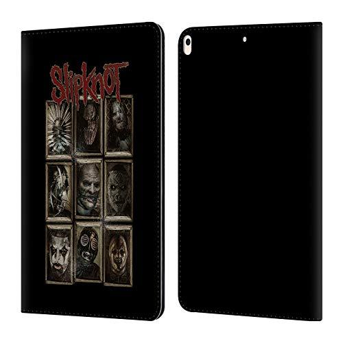 Head Case Designs Offizielle Slipknot Masken Kunst Leder Brieftaschen Huelle kompatibel mit iPad Air (2019) (Slipknot Masken 2019)