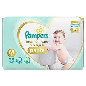 Pampers Premium Care Pants Diapers, Medium, 38 Count
