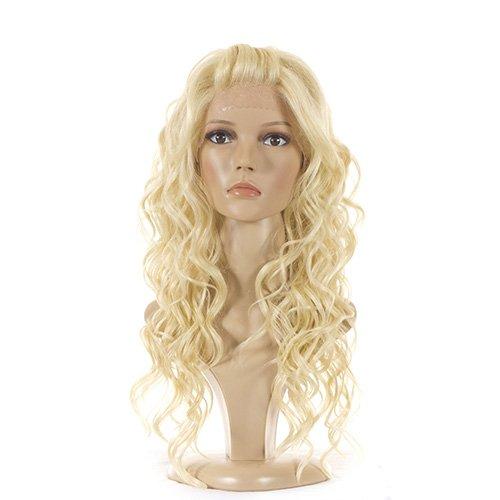Perruque Lace Front Synthetique Blonde Platine | Longue Perruque Bouclée | Inspiree par les boucles angéliques Taylor Swift | 3 Couleurs