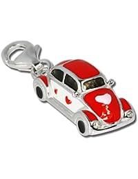 Sueño de plata de ley Charm{925} coche colgante Charm para pulsera cadena pendientes FC642