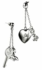 Dolce & Gabbana - DJ0561 - KEY - Boucles d'Oreilles Femme - Acier