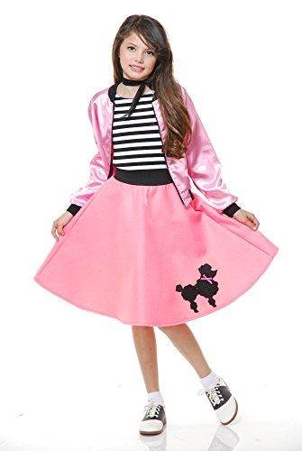 Charades Kost-me CH00535-XL Pudel Kleid mit Schal und G-rtel Kinderkost-m Gr-e X-Large