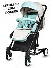 R for Rabbit Rock N Roll - The Rocking Baby Stroller and Pram for Baby/Kids with Easy Compact Folding (Green)