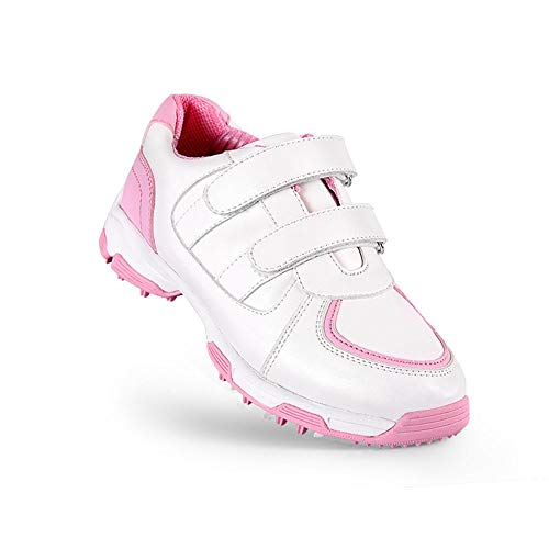 Mhwlai Scarpe da Golf per Bambini, Scarpe da Golf Impermeabili Scarpe Antiscivolo Aperte Traspiranti 3D (Uomo e Donna),A,33