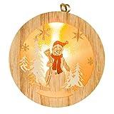 LED Holz Licht Weihnachtsbaum-hängende Verzierung Garten Party Weihnachtsdekorationen by 12shage (D)