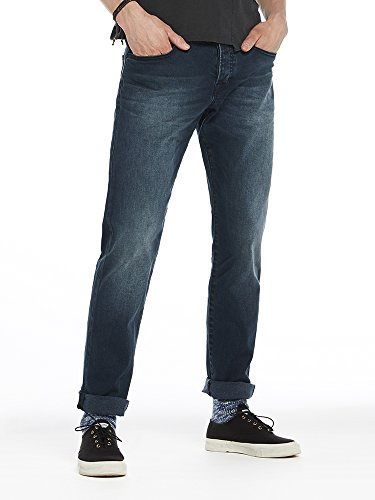 Scotch & Soda Herren Straight Jeans Ralston and Round Blau (Round And Round 1365)