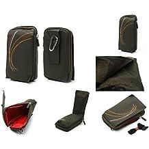 DFV mobile - Funda multiusos varios compartimentos cremallera pasador cinturon y mosqueton para => Blackview Omega Pro > color VERDE
