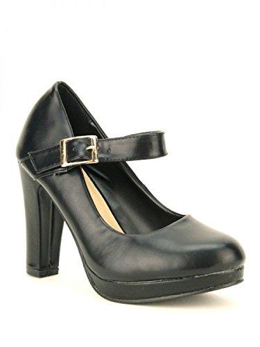 Cendriyon, Escarpin Noir simili cuir MOLA Mode Chaussures Femme Noir