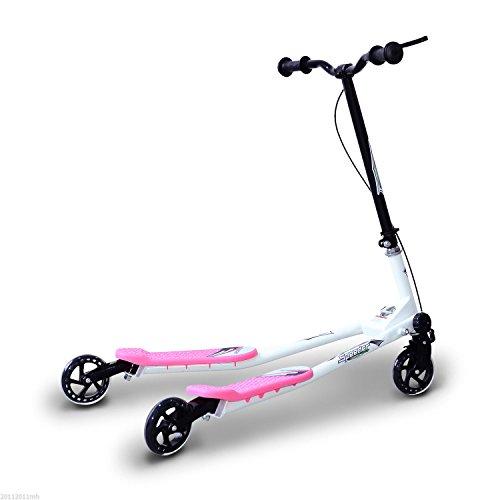 Homcom Patinete Scooter de 3 Ruedas Plegable Scooter de Oscilación Reductor para Niños +4 Años...