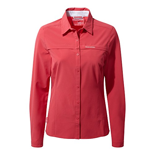 41PdiCSDgfL. SS500  - Craghoppers Womens/Ladies NosiLife Pro Long Sleeve Travel Shirt, UK 14/EU 40, Colour: Watermelon
