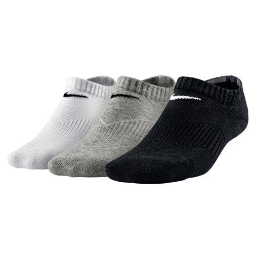 Nike No Show Socks 3P Yth CTN Cush W MOI, Mehrfarbig, M, SX4721-967 (Show 3pk Kinder Sock No)