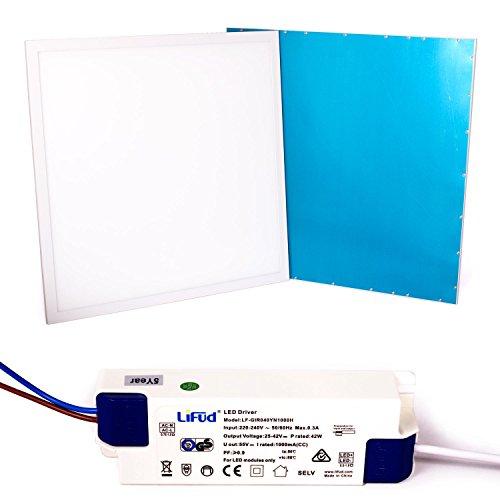 Taloya 36 W LED Panel 62 x 62 cm 83 Ra Warmweiß 3000K Rahmen weiß EEK A 5 Jahre Garantie Einlegeleuchte Rasterdecke Deckenplatte -