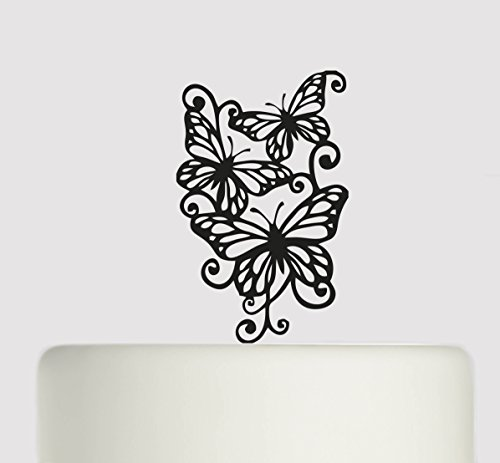 Wedding Cake topper Butterfly. Ideal handmade wedding cake decoration, wedding party Acrylic cake topper MR & Mrs Cake topper, Available in Gold Mirror, Gold Sparkle, Silver Mirror, Silver Sparkle, Bronze Mirror, Black,Blue, Pink, Red,Purple, Yellow and W