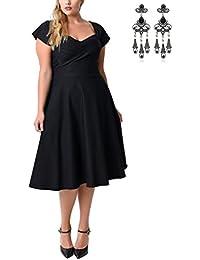 MODETREND Mujer Vestidos Tallas Grandes Vintage Retro 1950s Elegant Coctel Fiesta Vestido A-Line Vestido Tutú