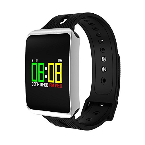 41PdjgyaaIL. SS500  - Fitness Tracker, Heart Rate Monitor IP68 Waterproof Smart Bracelet Pedometer Wristband for iOS & Android,OOLIFENG