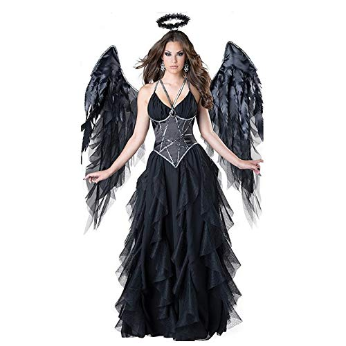 Ldssp donne adulte halloween angelo malvagio costume nero party masquerade cosplay abiti xl a