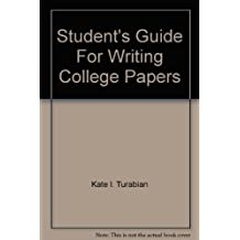 Students Guide For Writing College Papers