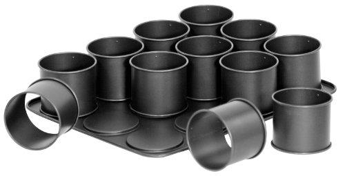 Zenker por las creaciones molde de anillo Frieling, antiadherente. Crear postres llamativos, aperitivos salados y mini platos gourmet. Divertido y f-cil de usar, estos moldes de anillo de m-ltiples funciones se pueden utilizar para la cocci-n, refrig...