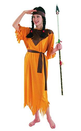 Blumen Paolo-Indianerin Kostüm Damen Erwachsene Womens, braun, Gr. 40-42, 62160 (Luna Lady Kostüm)