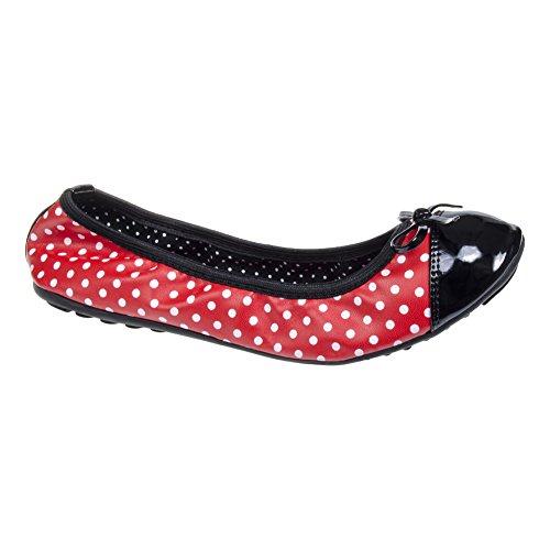 Scarpa Erin Polka Flat Banned (Rosso) - 38